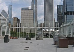 The Art Institute's rooftop patio is a great place to look down onto Millennium Park and take in the skyline. Photo by Jodie Jacobs