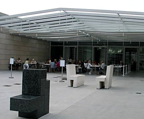 Terzo Piano on the Art Institute of Chicago Modern Wing terrace has indoor seating but when the weather allows, sit outside for a skyline view.