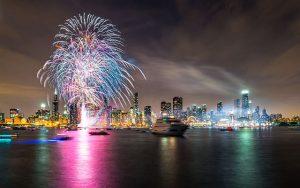 Navy Pier New Year's Eve fireworks start at midnight. Navy Pier photo