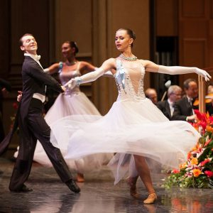 Dancers from the Kiev Aniko Ballet in Symphony center New Year's concert.