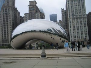 The Bean is a popular selfie site in Millennium Park. Photo by Jodie Jacobs