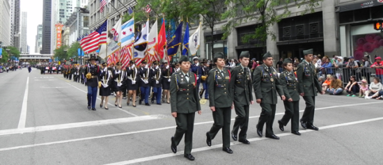 Chicago Memorial Day Parade on State Street. (City of Chicago photo)