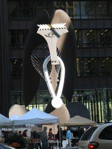 Chicago's Picasso sculpture symbolizes city pride. Jacobs photo