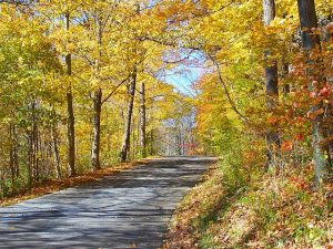 Explore the back roads of Brown County in the fall. Brown County photo