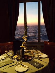 A good part of our cruise was our upgrading our dining experience to club status.( JJacobs photos)
