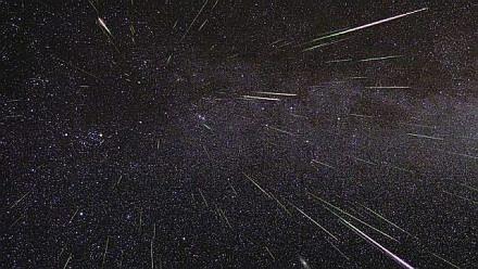Meteor showers happen when Earth is in a comet's orbital path and comet debris fly across the sky. (NASA photo)