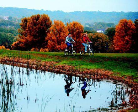 Biking around Eagle Ridge on the outskirts of Galena. (Eagle Ridge photo)