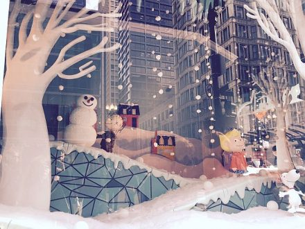 A Macy's State Street holiday window