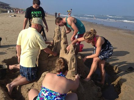 Building sand castles is not just for kids. (Sandy Feet photo)