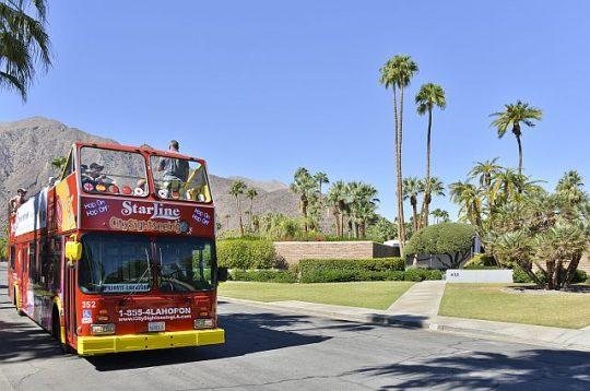 Bus tour of Palm Springs (David A. Lee photo)