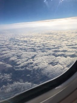 Like window seat to enjoy peaceful, artistic cloud formations while flying. (J Jacobs photo)