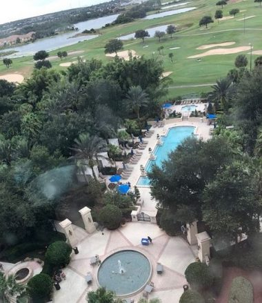 Pools and golf courses at Omni Orlando resort. J Jacobs photo)