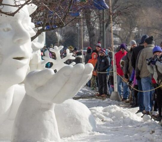 Snow Sculpting Championship, in Lake Geneva, WI. (Chamber of Commerce photo 2019)
