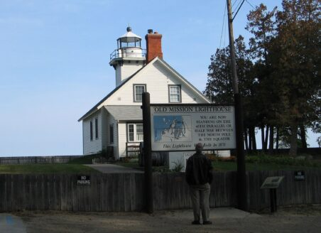 Old Mission Lighthouse is on the 45th parallel. (J Jacobs photo)