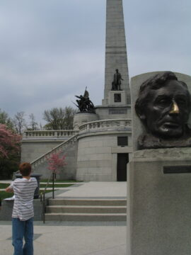 Yes it's OK to touch Lincoln's nose at his tomb. ( Jacobs photo)