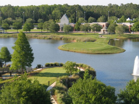 The island hole replicated at the World Golf Village. (J Jacobs photo)