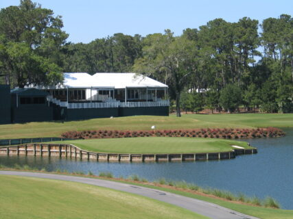 Famed 17th hole at TPC Sawgrass. (J Jacobs photo)
