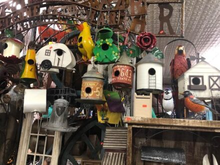 Birdhouses at Red's in Galena (J Jacobs photo)