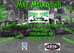 MAY MELTDOWN   May 15th   The Great Stoneboro Fairgrounds