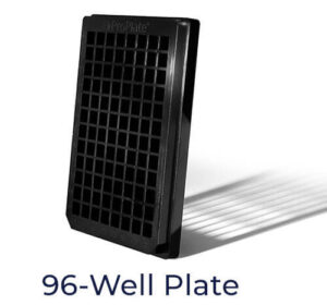 96 well microarray for testing of bacteria, virus, mold, and other pathogens