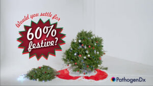 Would you settle for 60% festive?