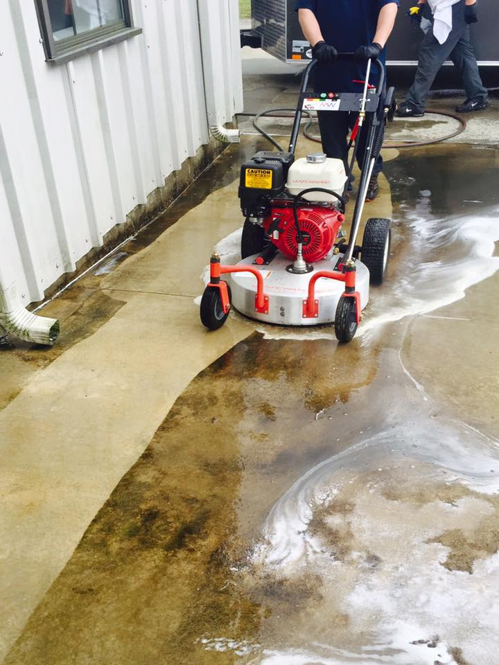 Commercial Floor washing