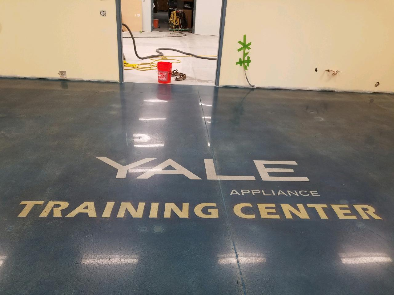 Yale Appliance Training Center. Concrete Polishing