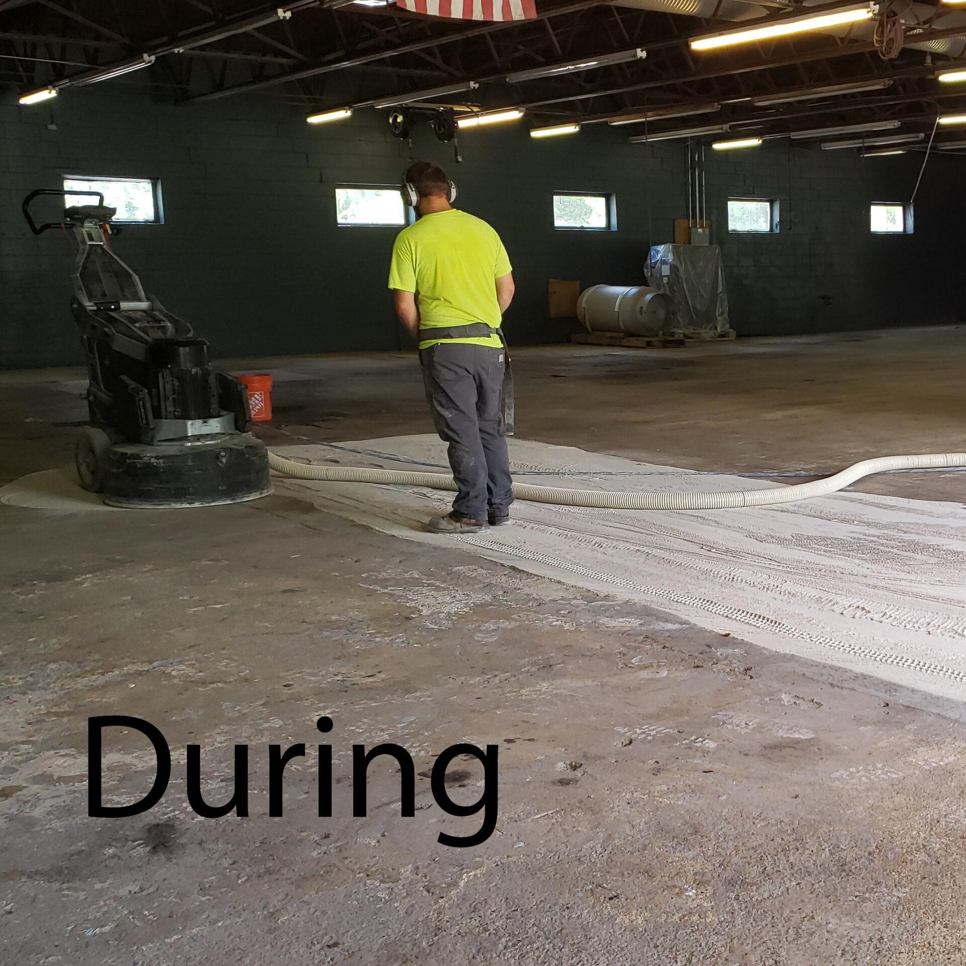 Milford, NH. Garage Surface Prep. During