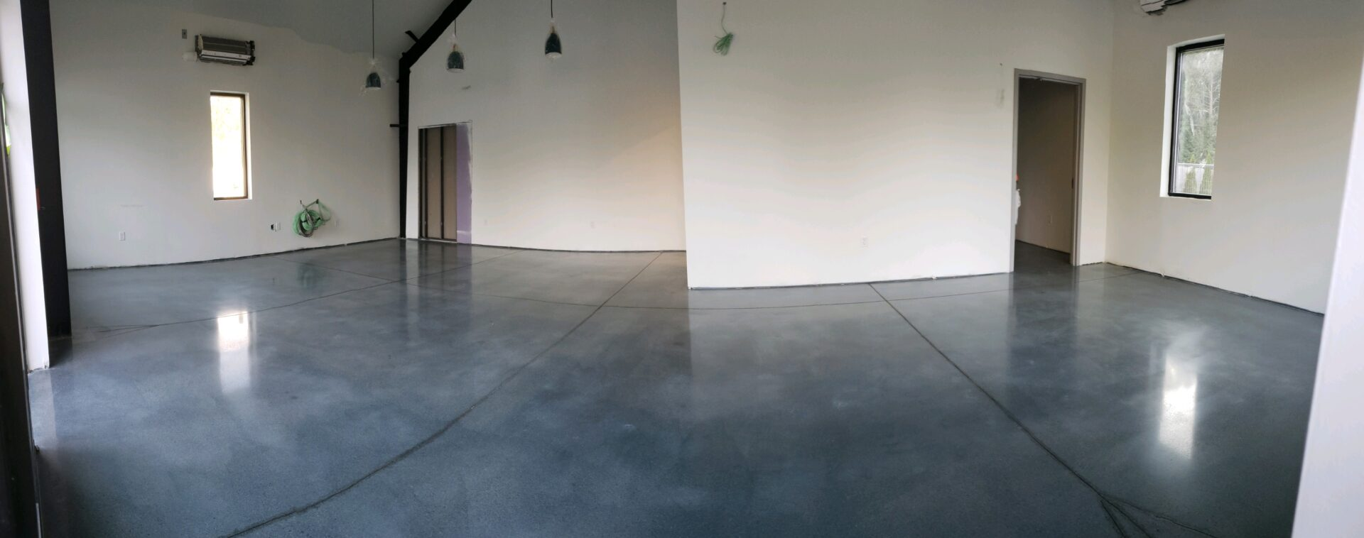 Sweet Dirt Dispensary in Eliot, Me. The floor has been stained, polished and burnished.