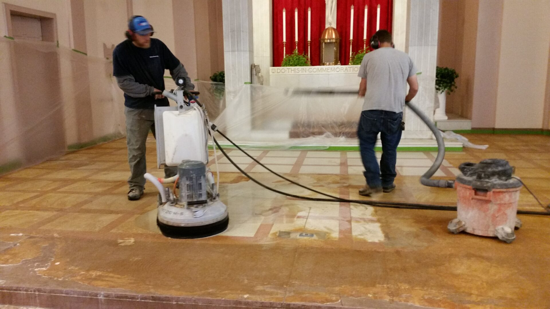 Multiple passes with our advanced equipment delivered a brilliant finish with nearly no dust. A breath of new life for an existing floor.