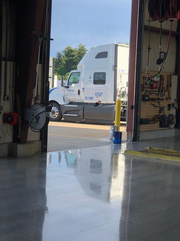 After- Walmart distribution Center. Truck Repair Bay