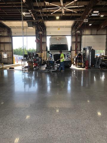 After - Walmart distribution Center. Truck Repair Bay2
