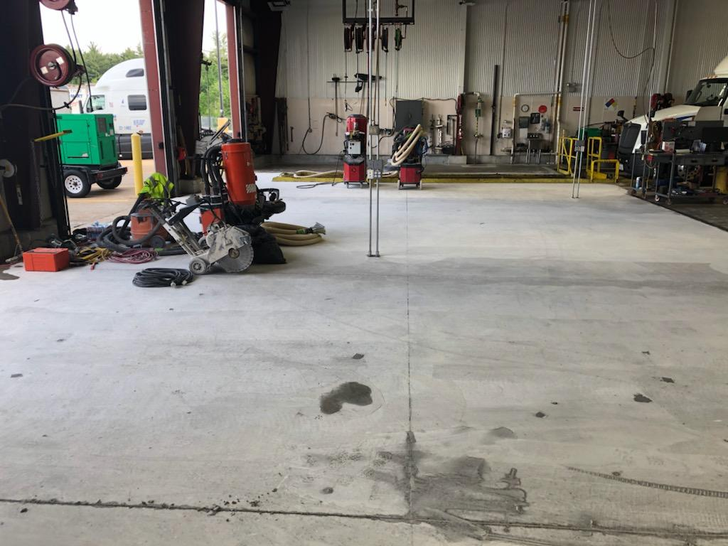 Before - Walmart distribution Center. Truck Repair Bay 2