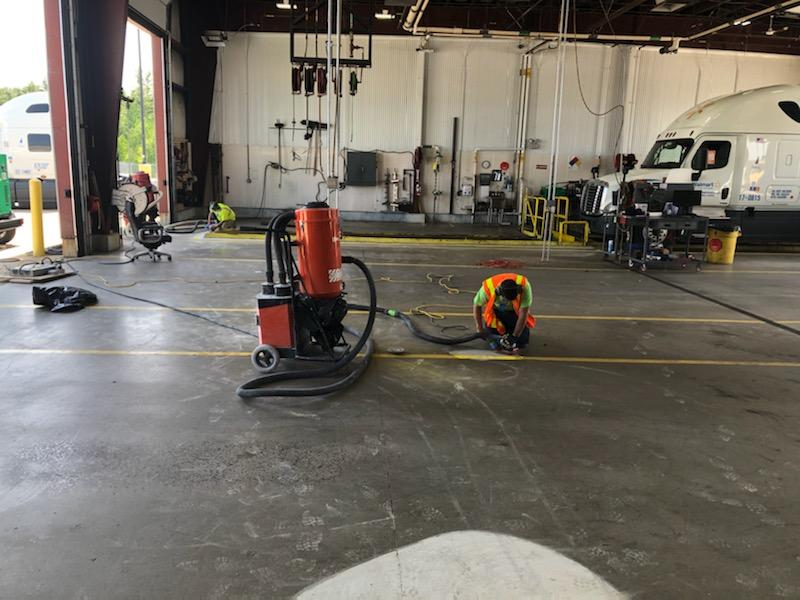 Before - Walmart distribution Center. Truck Repair Bay