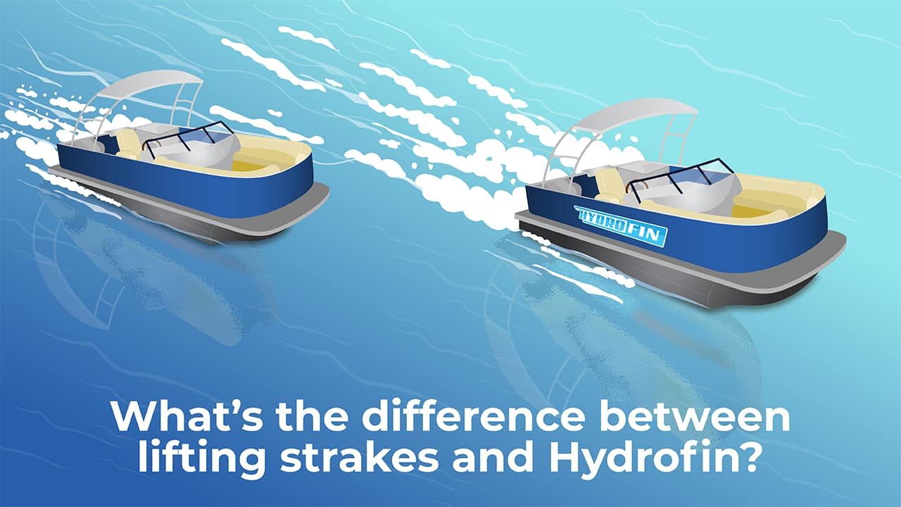 What's the difference between lifting strakes and Hydrofin?