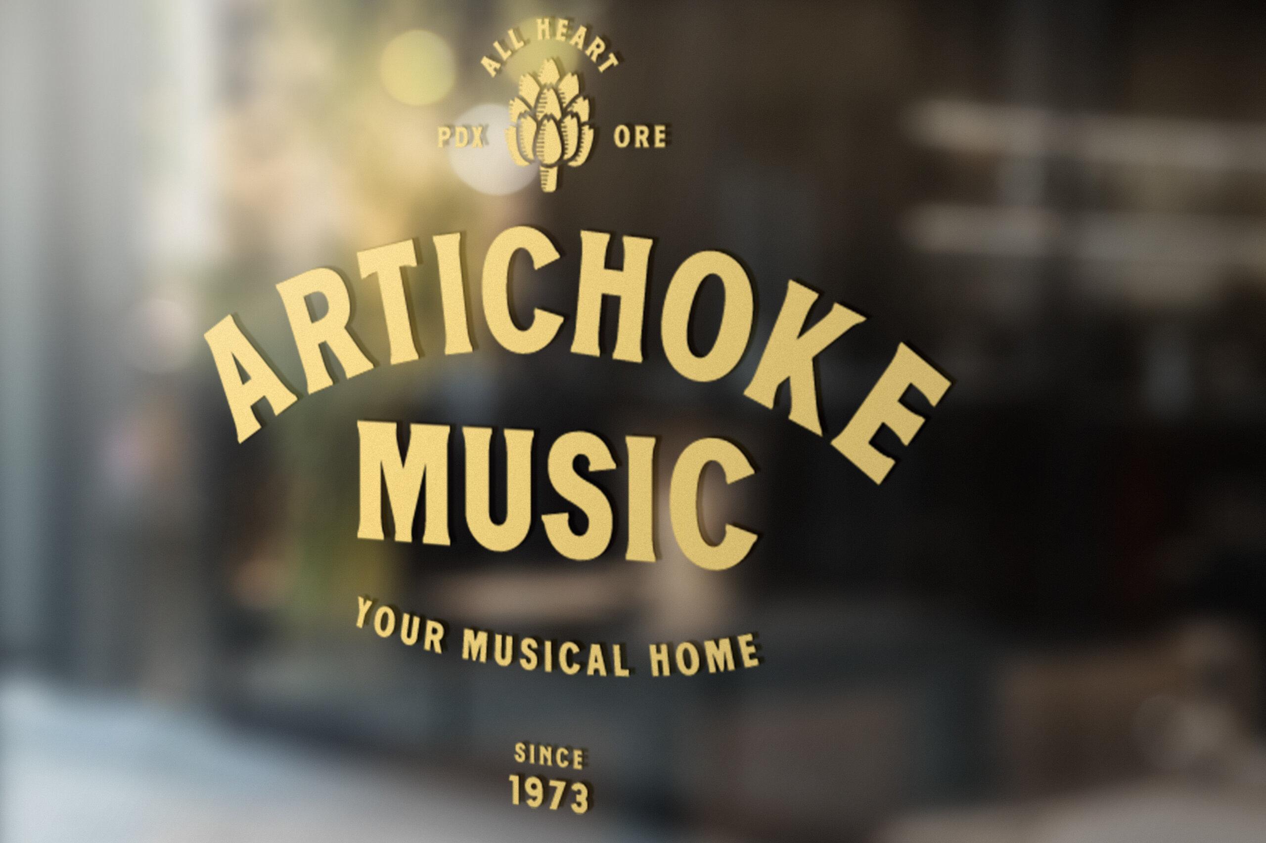 Artichoke Music Window Sign