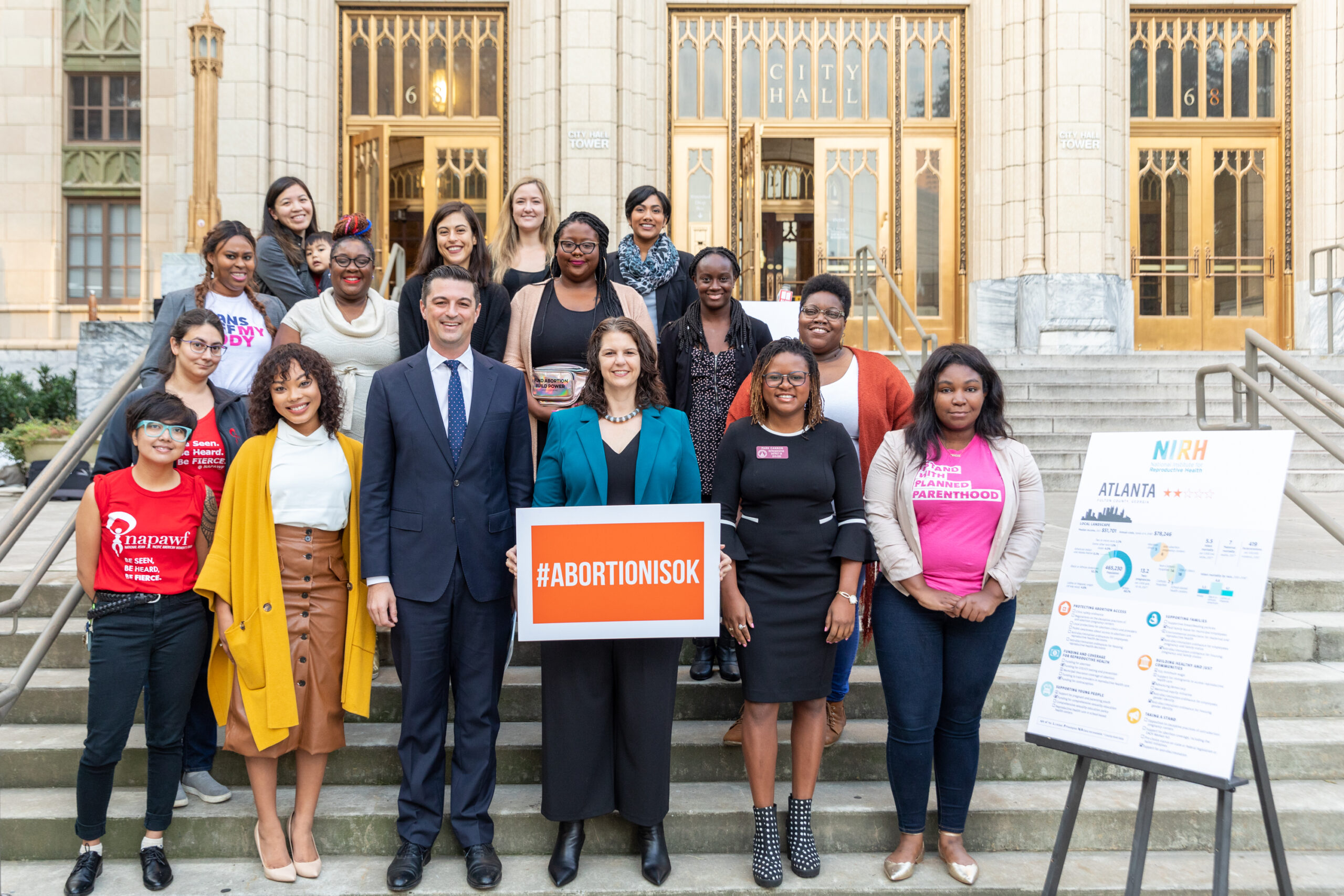 ATLANTA, GA - October 21, 2019: Atlanta Lawmakers, Local Advocates and National Reproductive Rights Group Launch New Report Evaluating 50 U.S. Cities on Efforts to Advance Reproductive Health, Rights and Justice