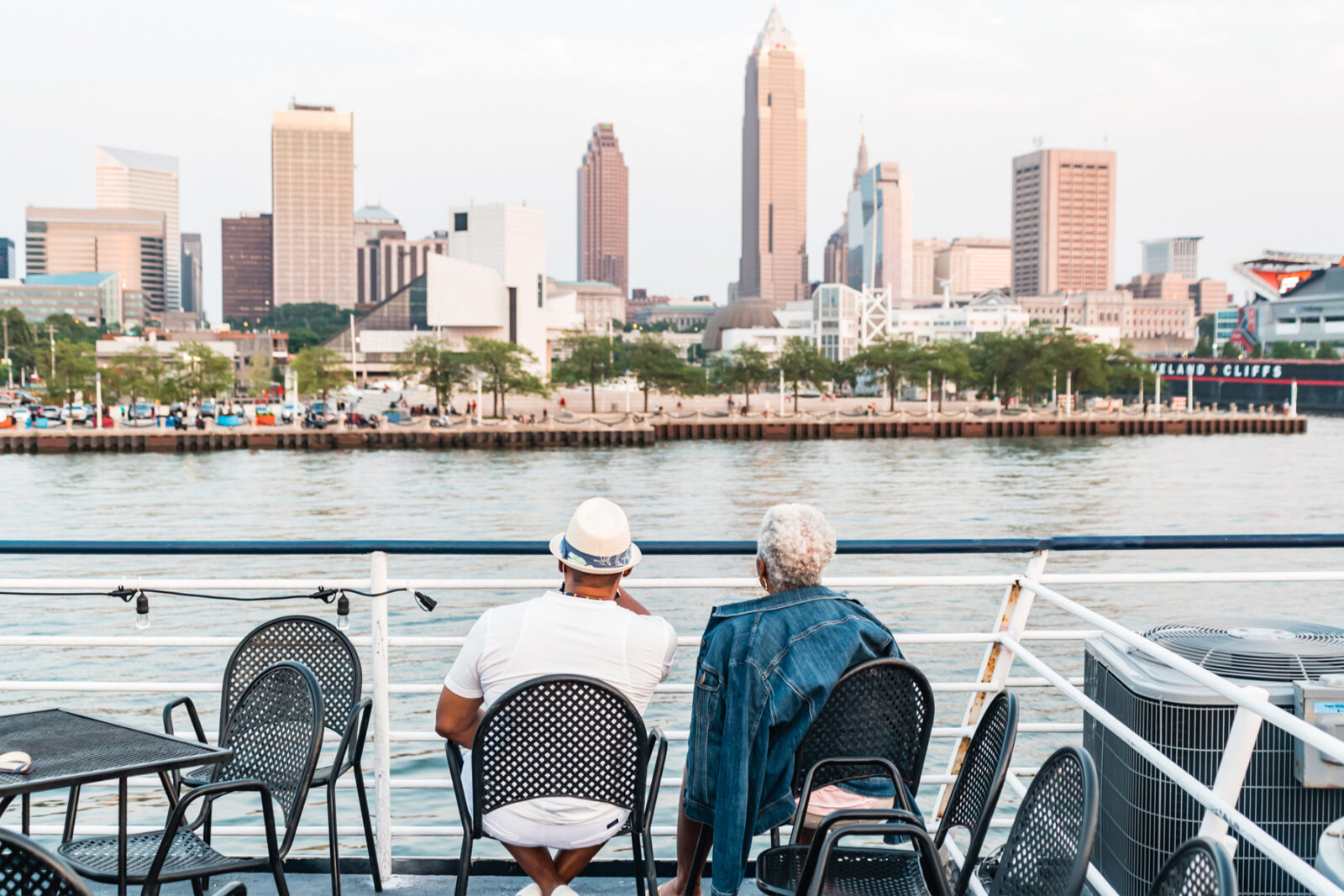 Cleveland Skyline from the Nautica Queen