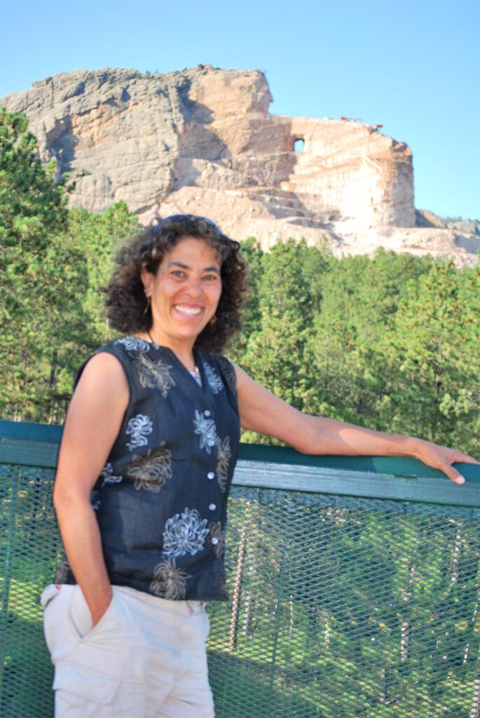 Nina Roberts at Crazy Horse in South Dakota