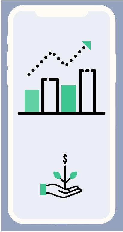 Lake Huron financial money graph on phone