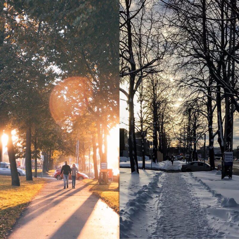 diferença outono e inverno na estônia