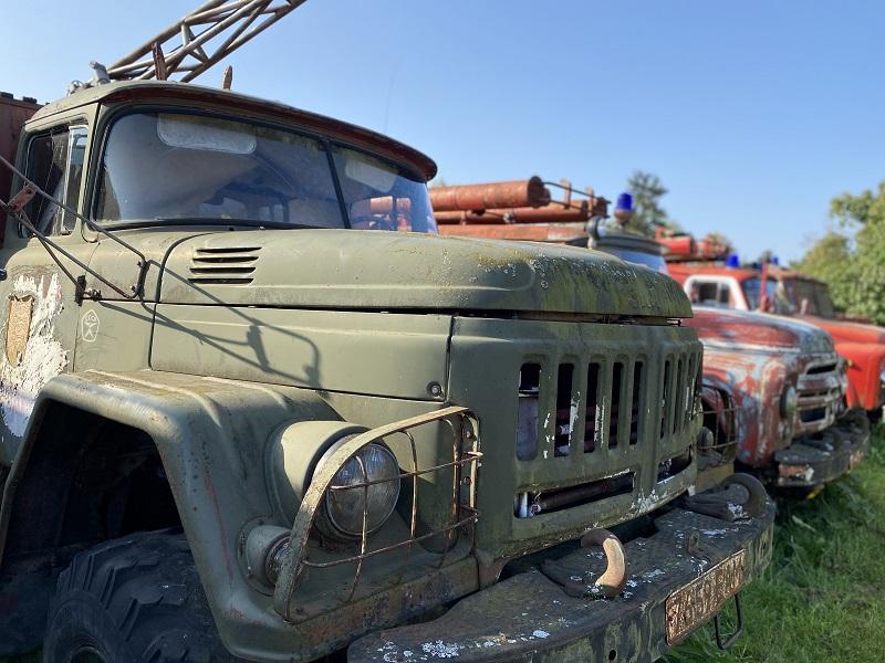 carros soviéticos no Vanatehnika Varjupaik