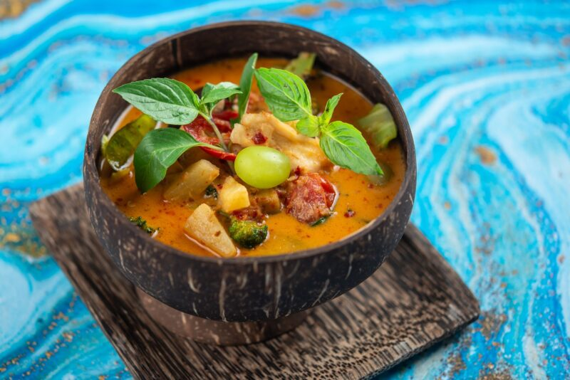 restaurantes em tallinn - prato no Very Thai/Butsabas Kitchen