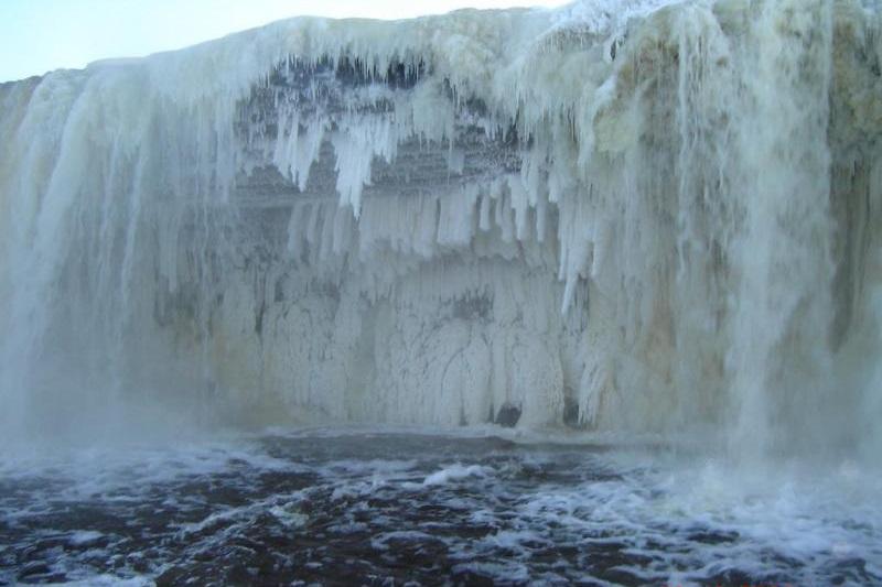 Jägala Waterfall winter
