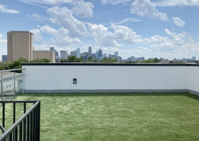 Rooftop with artificial turf in Dallas