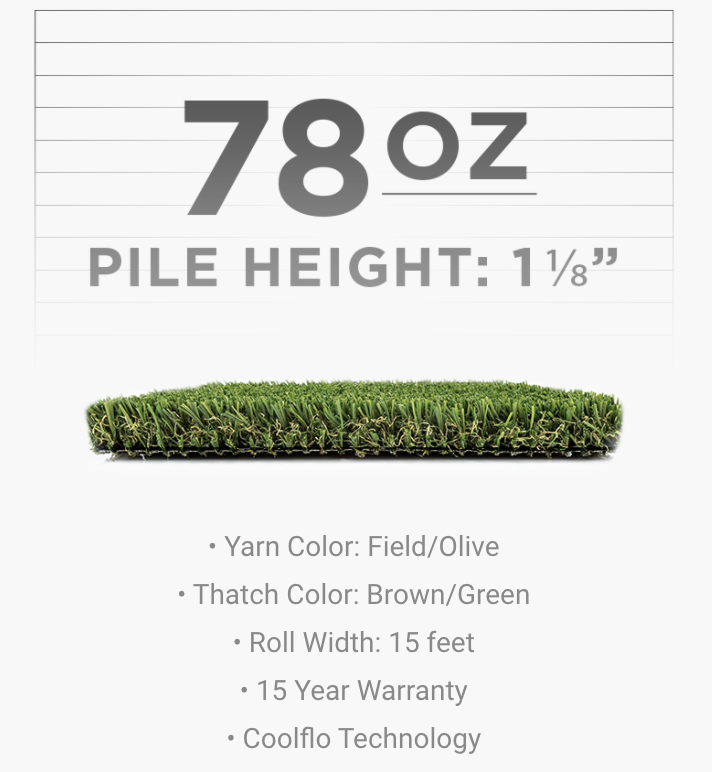 Playground Artificial Turf Pile Height