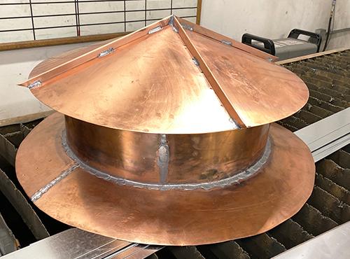 Architectural copper components