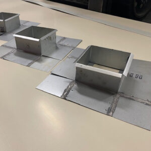 Custom size pitch pans in any grade of material soldered upon request