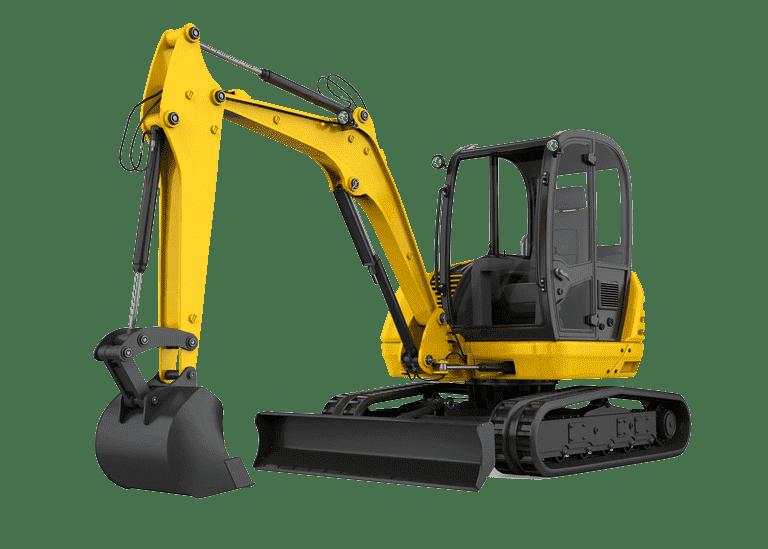 Mini Excavator, Compact Equipment Logo