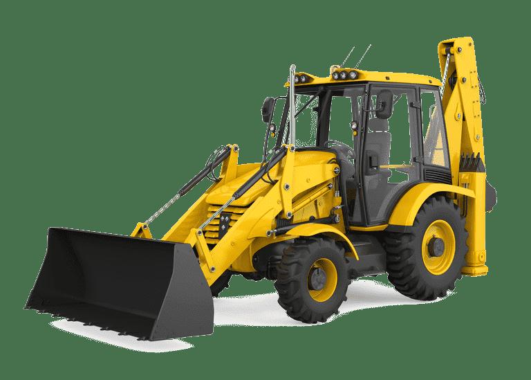 Loader Backhoe, Construction Equipment Logo